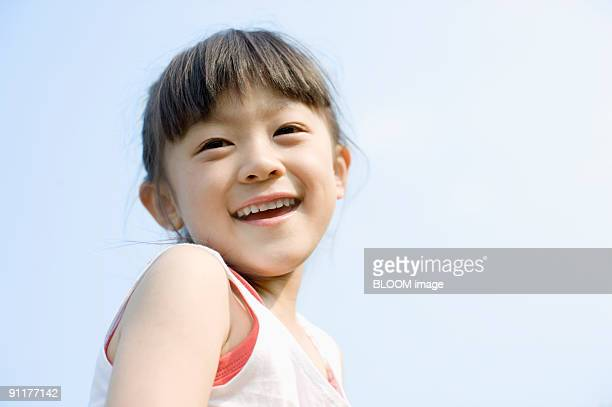 Girl smiling, portrait, close-up