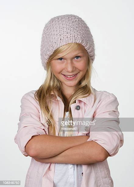girl (12-13 years) smiling, portrait - 12 13 years stock pictures, royalty-free photos & images