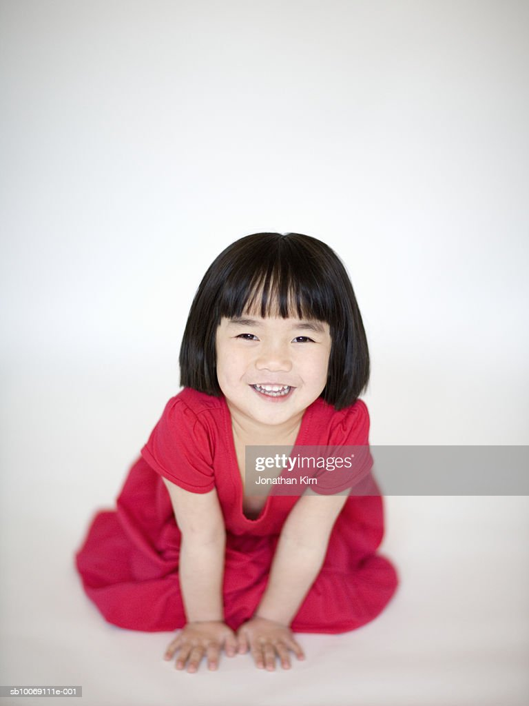 Girl smiling, portrait : Stockfoto