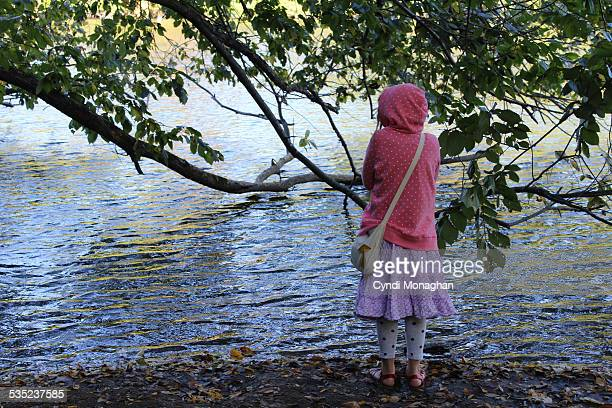 Girl Standing at the Water's Edge