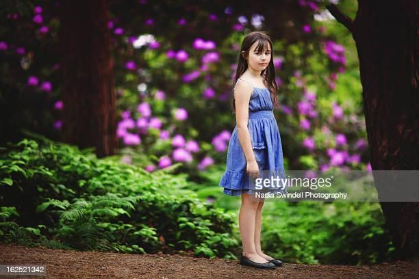 girl standing - weybridge stock photos and pictures