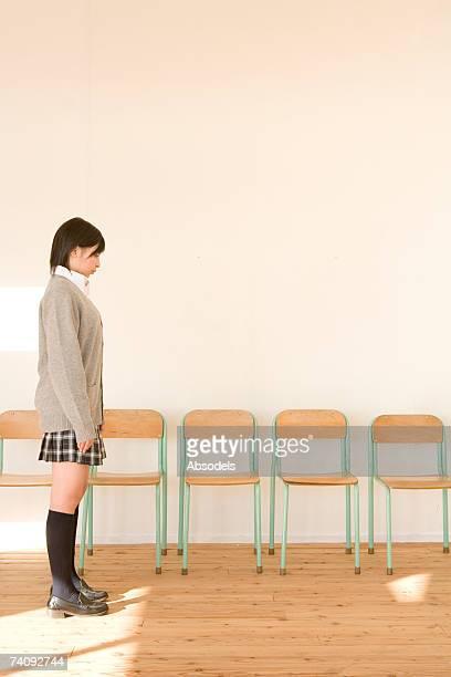 A girl standing
