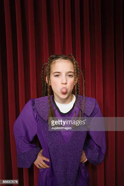 Girl sticking out tongue