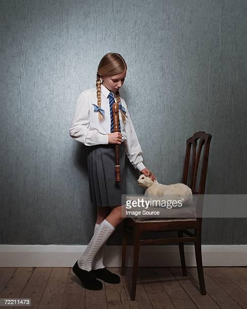 Gato Menina Acariciar Recheado