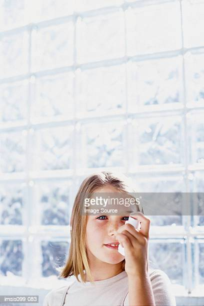 Girl suffering from asthma