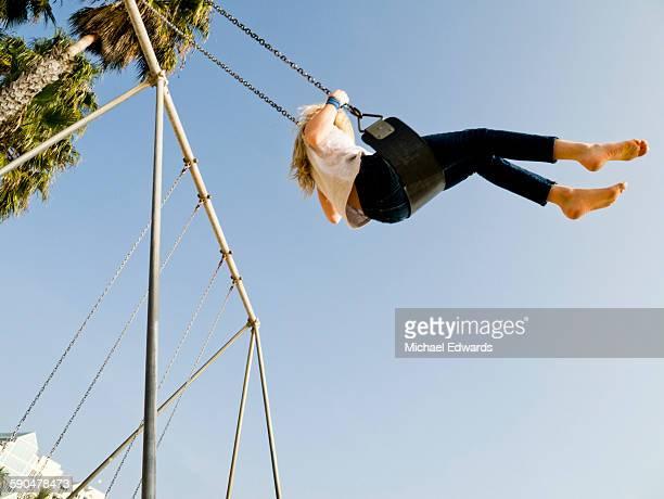 girl swing sky