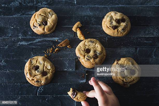 Girl taking a cookie