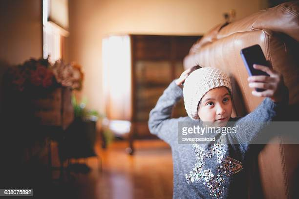 girl taking a selfie - showing off stock pictures, royalty-free photos & images