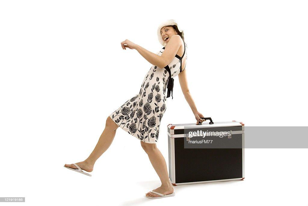 Girl traveling : Stock Photo