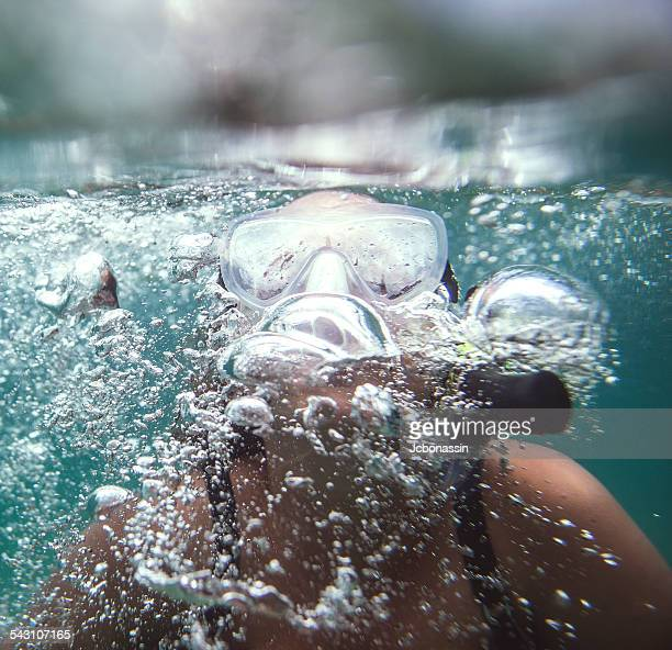 girl underwater - jcbonassin stock pictures, royalty-free photos & images