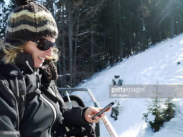 Girl using smart phone