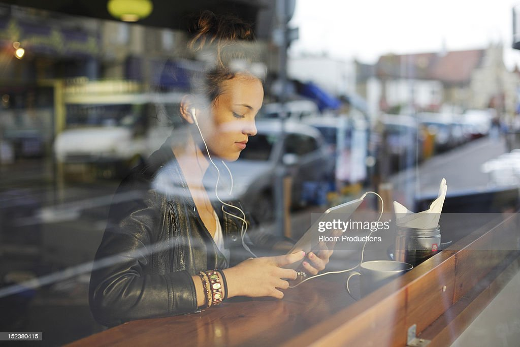 girl using technology : Stock Photo