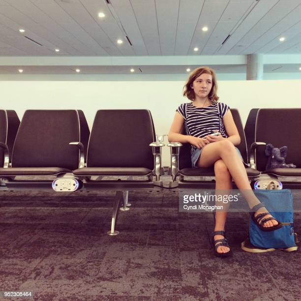 Girl Waiting at Airport