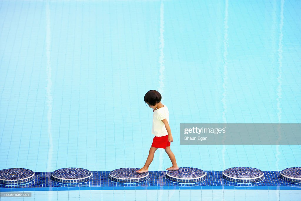 Stepping Stones In Swimming Pool