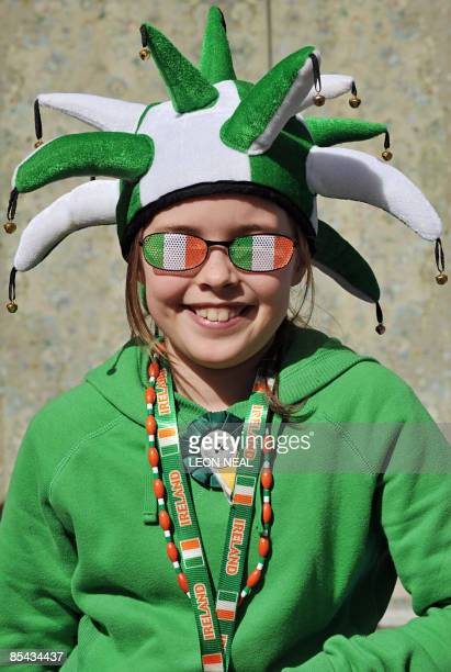 Girl watches the annual Saint Patricks day parade through central London, on March 15, 2009. London's Mayor Boris Johnson went on to declare London...