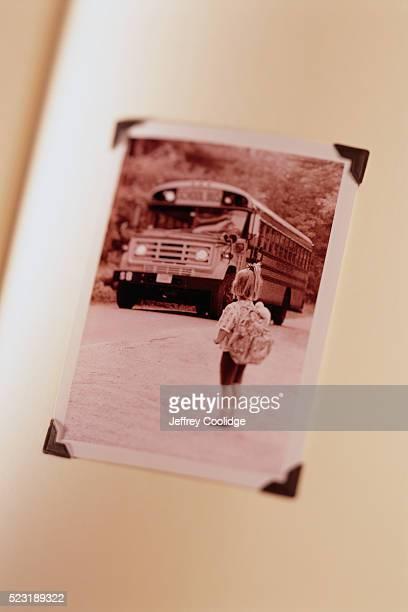 Girl Watching School Bus