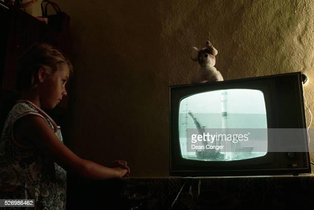 Girl Watching the Launching of Soyuz 19 in 1975