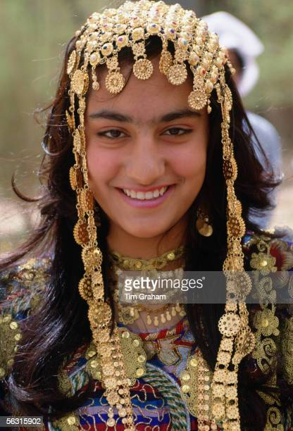 Girl wearing a traditional headdress Kuwait