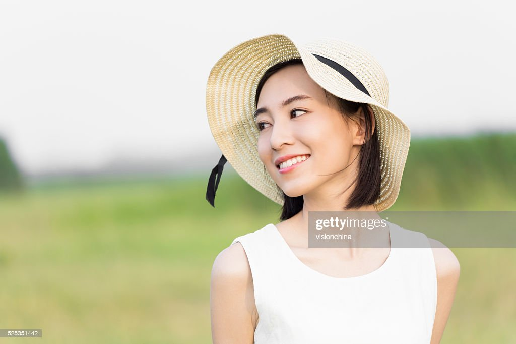 girl wearing a white dress : Stock Photo