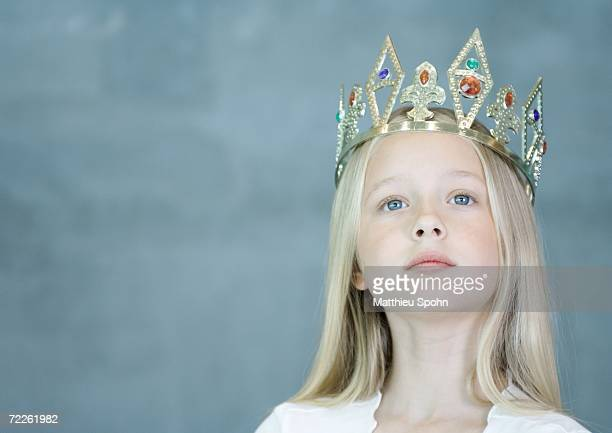 girl wearing crown - arrogance stock pictures, royalty-free photos & images
