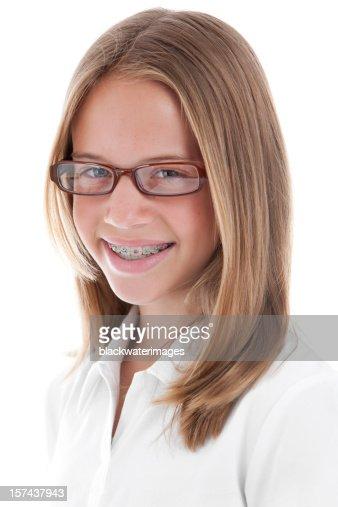 Girl Wearing Eyeglasses High-Res Stock Photo