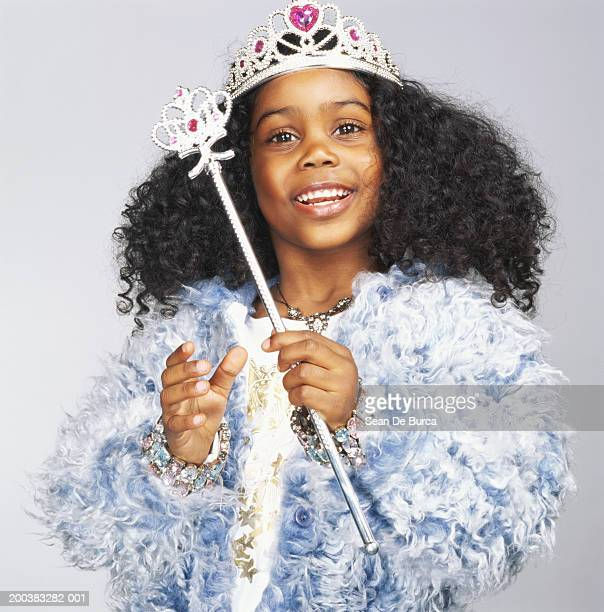 girl (3-5) wearing fairy godmother costume - princess stock pictures, royalty-free photos & images