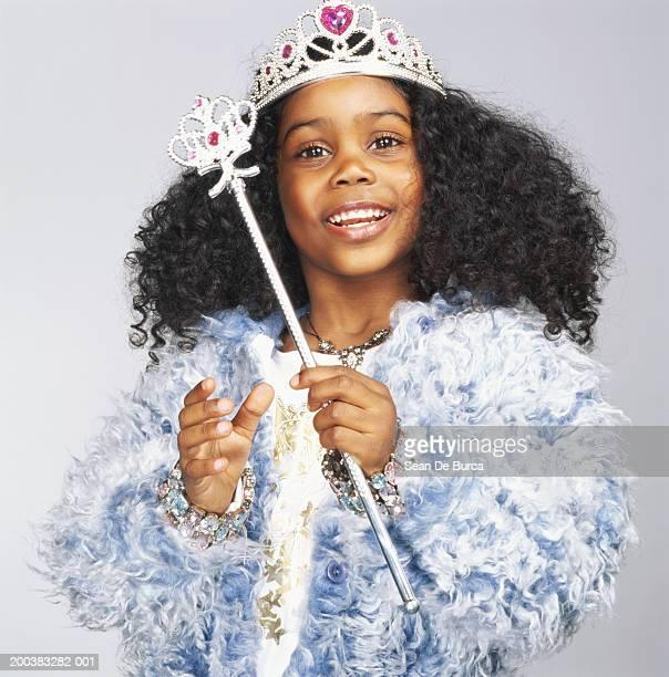 girl (3-5) wearing fairy godmother costume - プリンセス ストックフォトと画像