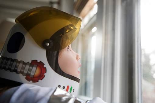 Girl wearing helmet - gettyimageskorea