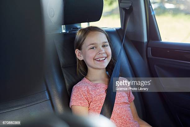 Girl wearing seat belt