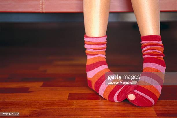 girl wearing striped socks - little girls undies stock pictures, royalty-free photos & images