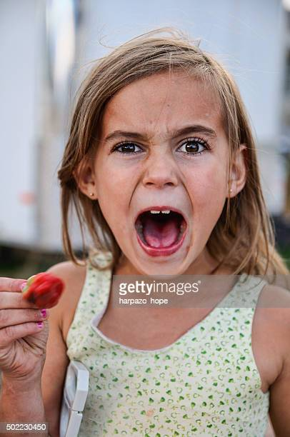Girl Who Ate a Spicy Pepper