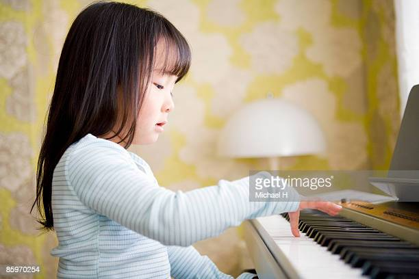 Girl who plays piano