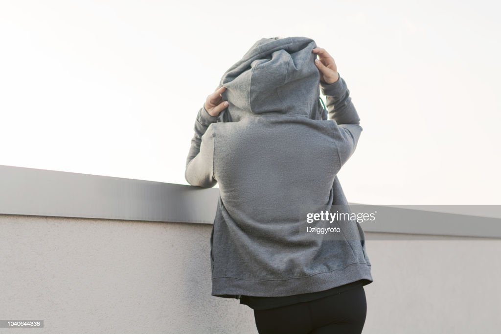 Girl with a hoodie : Stock Photo