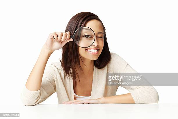 Girl With a Magnifying Lens