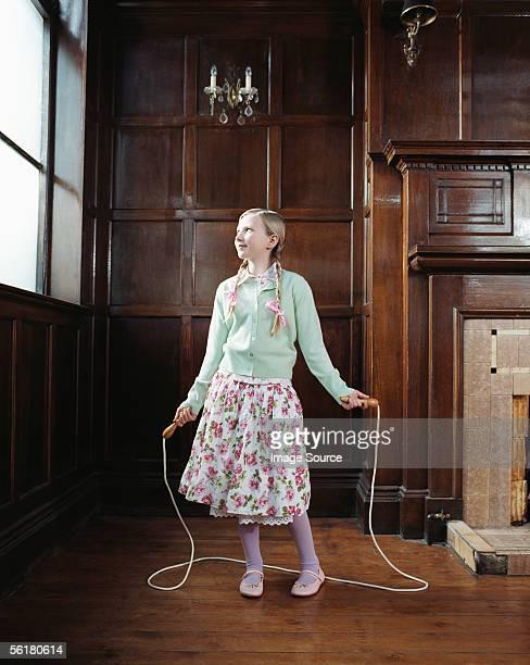 Girl 、縄跳びロープ