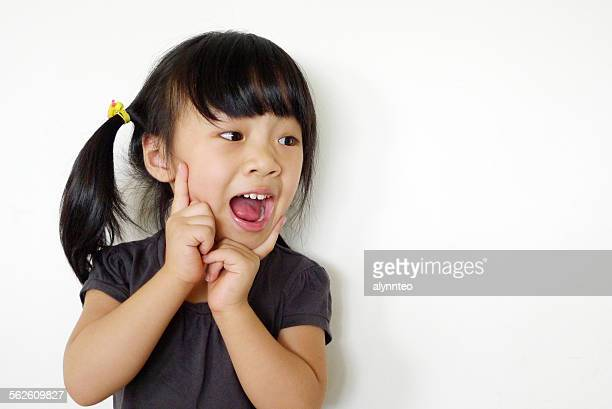 Girl with a surprised expression