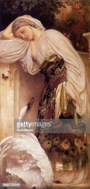 Girl with a Swan Leighton Frederic
