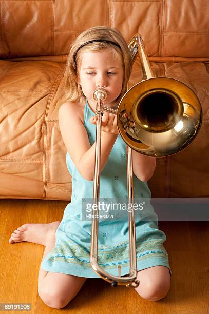 Girl with a trombone