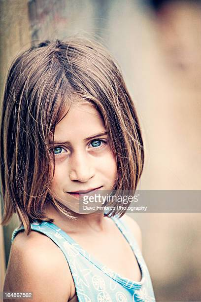 girl with blue eyes (why so serious?) - mclean virginia stock pictures, royalty-free photos & images