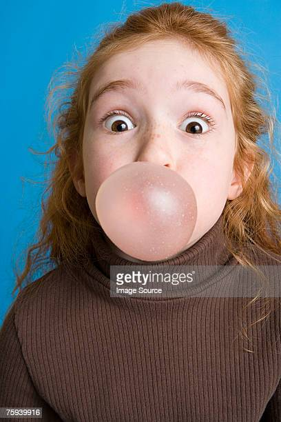 Girl with bubble gum
