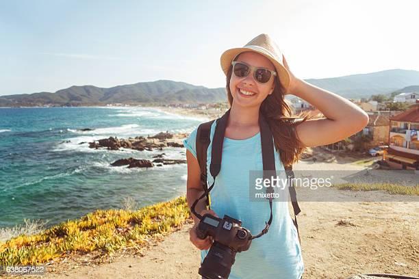 garota com uma câmera - camera girls - fotografias e filmes do acervo