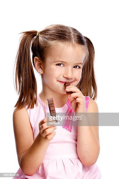 Ragazza con cioccolato