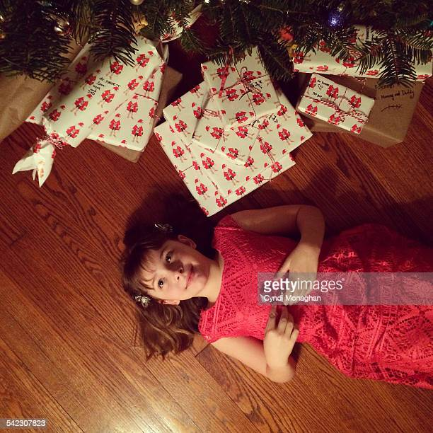 Girl with Christmas Packages