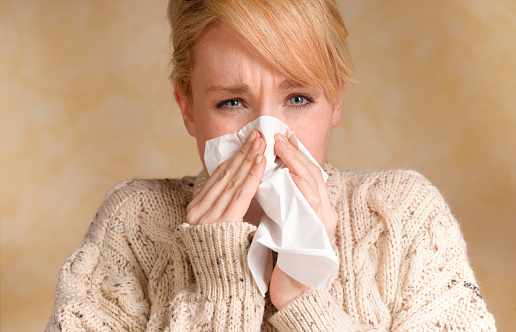 Girl with cold and flu - gettyimageskorea