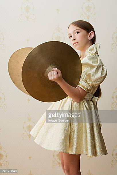 Girl with cymbals
