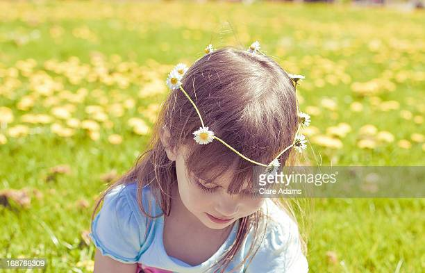 Girl with Daisy Chain in her Hair