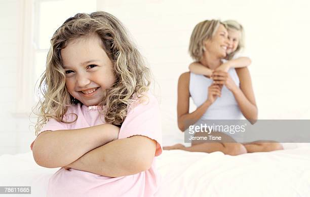 Girl with family