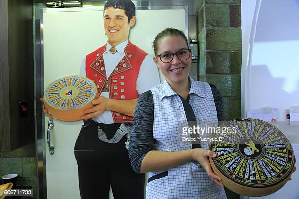 Girl with famous Appenzell cheese