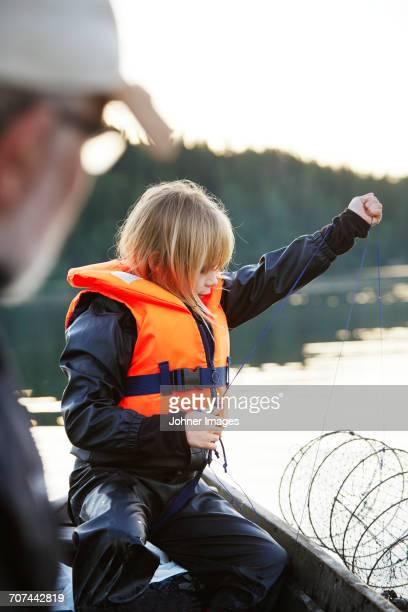 Girl with fishing nets