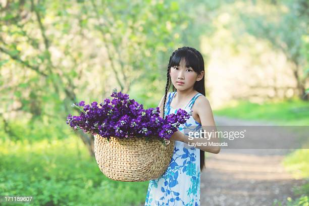 Girl With Flower Basket - A Story For Chil